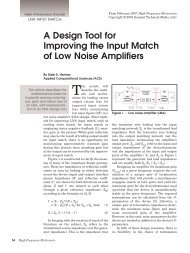 A Design Tool for Improving the Input Match of Low Noise Amplifiers