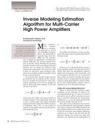 Inverse Modeling Estimation Algorithm for Multi-Carrier High Power ...