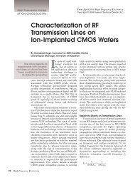 Characterization of RF Transmission Lines on Ion-Implanted CMOS ...