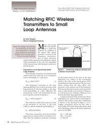 Matching RFIC Wireless Transmitters to Small Loop Antennas