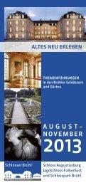 downloaden. (1436kB) - Schlösser Augustusburg und Falkenlust