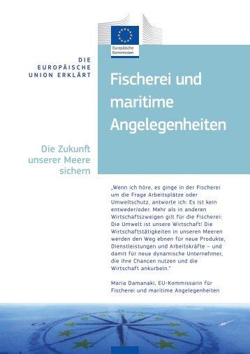 Fischerei und maritime Angelegenheiten - Europa