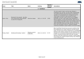 Artikel-Auswahl 2. Quartal 2013 Seite 1 von 27 - Institute of Shipping ...