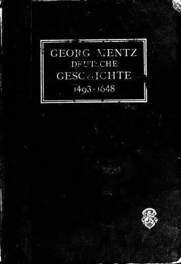Deutsche geschichte im zeitalter der reformation, der ...