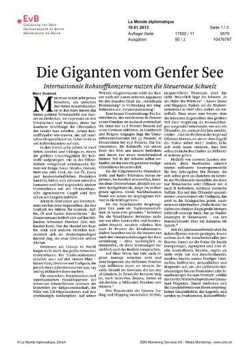 Die Giganten vom Genfer See - Erklärung von Bern