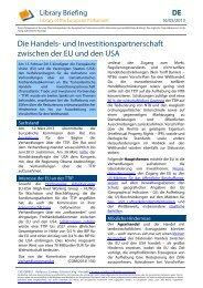 Briefing Library European Parliament - Europa
