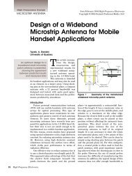 Design of a Wideband Microstrip Antenna for Mobile Handset ...