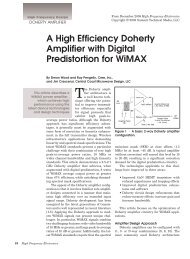 A High Efficiency Doherty Amplifier with Digital ... - Cree, Inc.