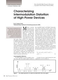 Characterizing Intermodulation Distortion of High-Power Devices