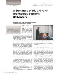 A Summary of HF/VHF/UHF Technology - High Frequency Electronics