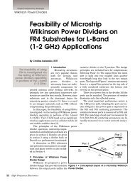 Feasibility of Microstrip Wilkinson Power Dividers on FR4 Substrates ...