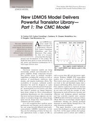 New LDMOS Model Delivers Powerful Transistor Library— Part 1 ...
