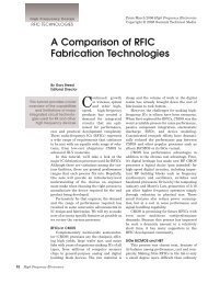A Comparison of RFIC Fabrication Technologies - High Frequency ...