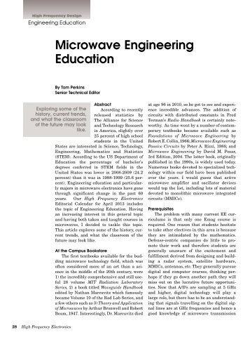 Microwave Engineering Education - High Frequency Electronics
