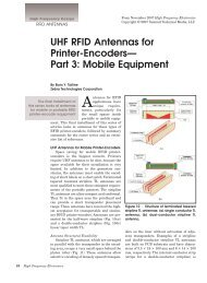 UHF RFID Antennas for Printer-Encoders— Part 3 - High Frequency ...