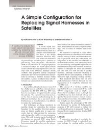A Simple Configuration for Replacing Signal Harnesses in Satellites