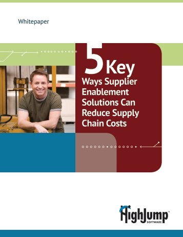 Ways Supplier Enablement Solutions Can Reduce Supply Chain ...