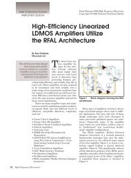 High-Efficiency Linearized LDMOS Amplifiers Utilize the RFAL ...