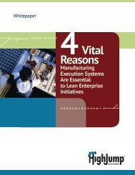4Vital Reasons - HighJump Software, Inc.