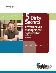 5 Dirty Secrets of Warehouse Management Systems for 2012