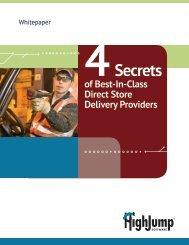Whitepaper: Four Secrets of DSD Success - HighJump Software, Inc.