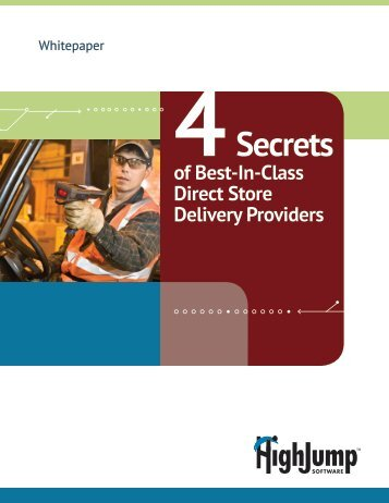 Whitepaper: Four Secrets of DSD Success - HighJump Software, Inc.