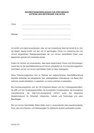 Erklärung Datenschutz - Bayern Kapital