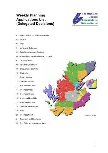 Delegated Decisions - The Highland Council