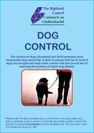 What is a Dog Control Notice? - The Highland Council