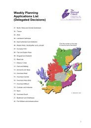 Delegated Decisions Nov 9th - The Highland Council