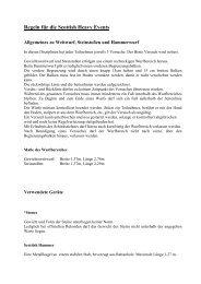 Regeln für die Scottish Heavy Events