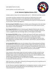 II. Int. Kamener Highland Games 2012