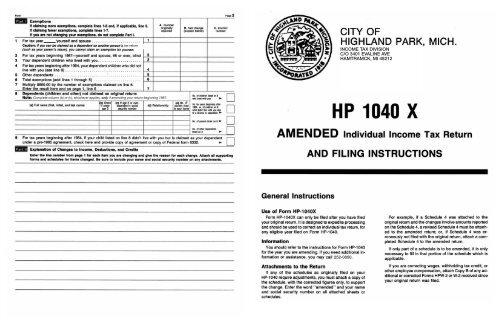 income tax division c/o 3401 evaline ave hamtramck, mi 48212