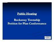 Rockaway Township Presentation - New Jersey Highlands Council