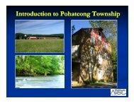 Pohatcong Township Presentation - New Jersey Highlands Council