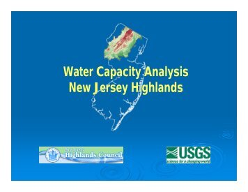 Water Capacity Analysis - New Jersey Highlands Council