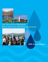Annual Report 2008.indd - New Jersey Highlands Council