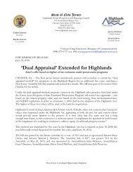 Dual Appraisal - New Jersey Highlands Council