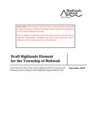 Draft Highlands Element for the Township of Mahwah - New Jersey ...