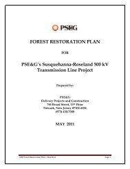 Forest Restoration Plan - New Jersey Highlands Council