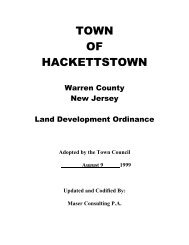 TOWN OF HACKETTSTOWN - New Jersey Highlands Council