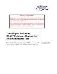 Township of Rockaway DRAFT Highlands Element for Municipal ...