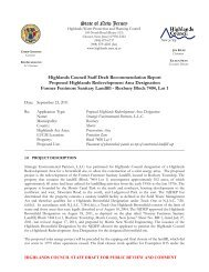 Draft Staff Recommendation Report - New Jersey Highlands Council