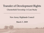 Transfer of Development Rights - New Jersey Highlands Council