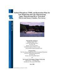 Refined Phosphorus TMDL and Restoration Plans for Lake ...