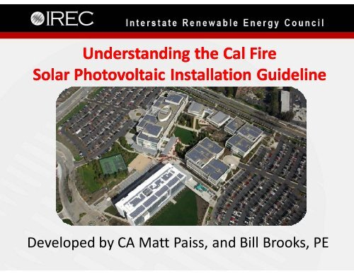 Understanding the Cal Fire Solar Photovoltaic Installation Guideline