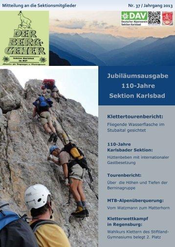 2013 Berggeher Nr. 37 - DAV Karlsbad