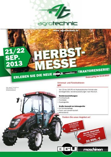 21/22 Sep. 2013 - agrotechnic