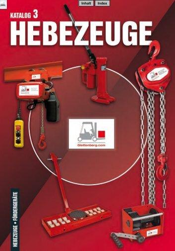 Katalog Hebezeuge - B. Glettenberg GmbH