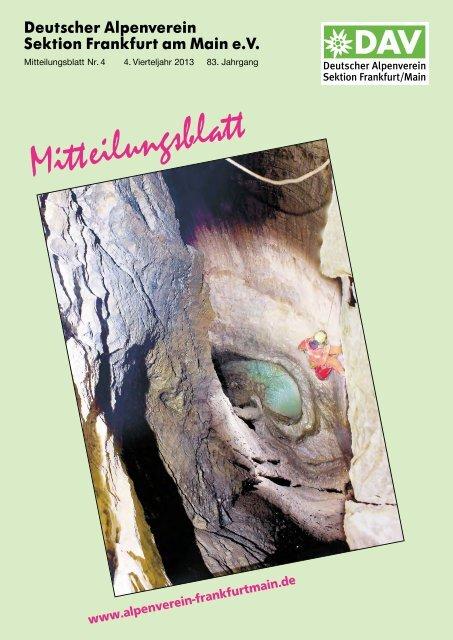 ca268d7b146757 Mitteilungsblatt 4   2013 - DAV Sektion Frankfurt Main